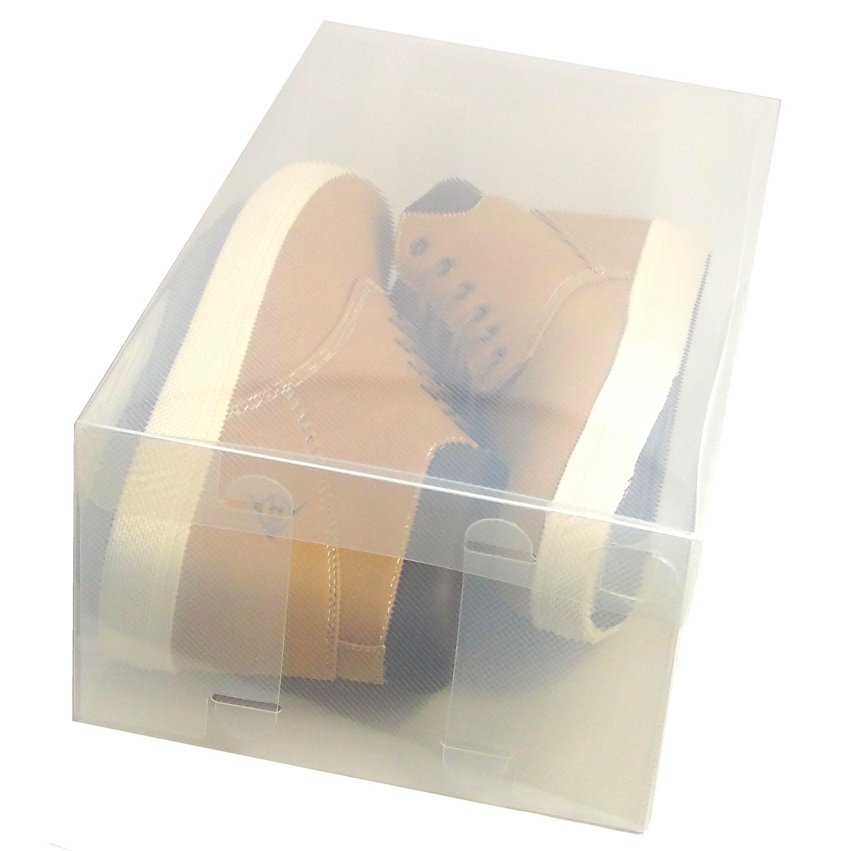 Cajas de almacenaje zapatos dynasun pp435 apilable plegable transparente ebay - Almacenaje zapatos ...