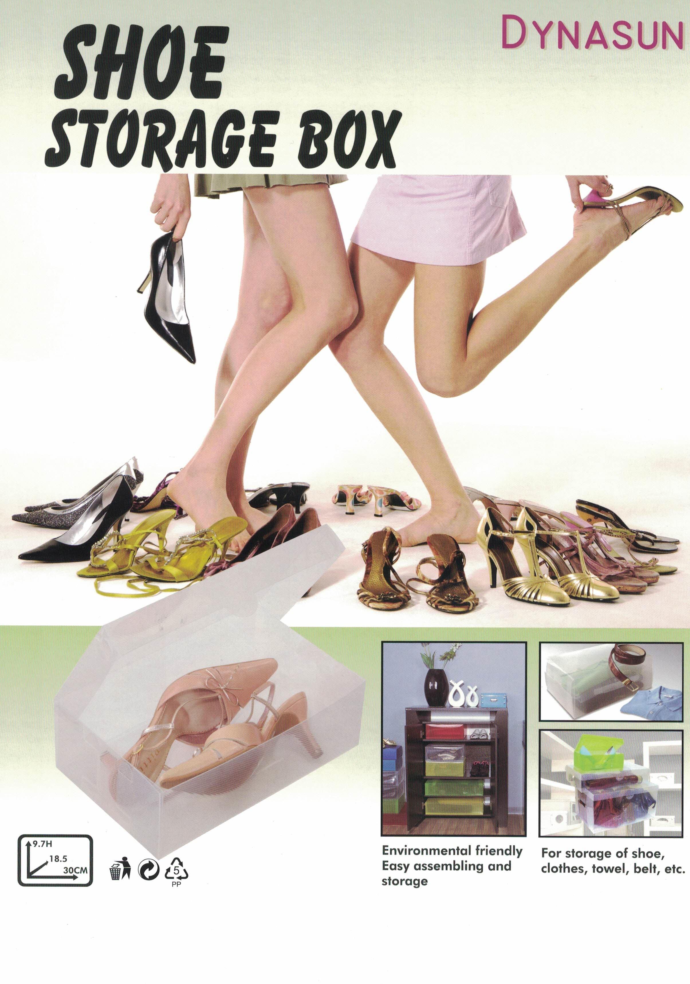 Cajas de almacenaje zapatos dynasun pp437 apilable plegable transparente ebay - Almacenaje zapatos ...