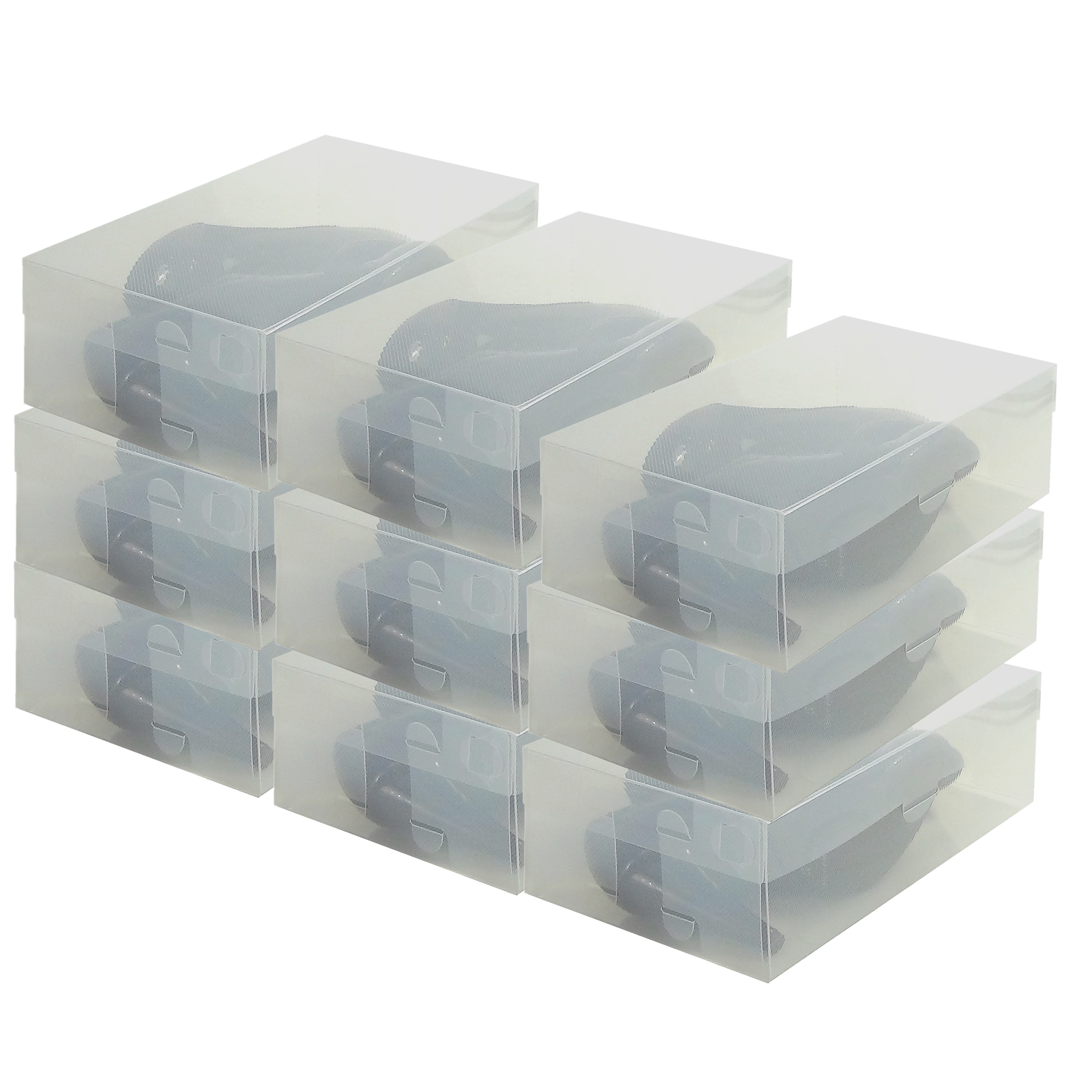 Details About 9x Dynasun Pp437 Heavy Duty Clear Plastic Shoe Storage Box Container Organizer